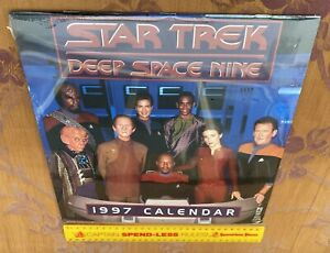 VINTAGE STAR TREK DEEP SPACE NINE TV CALENDAR 1997 STDS9 SEALED UNUSED EXC!!!
