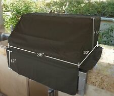 "Outdoor BBQ Island Built-in Gas Grill Head/Top Cover - Fits up to 36""  Black"