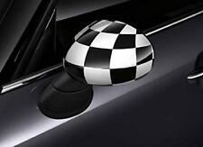 MINI Black/White Chequered Mirror Cap Set (RRP £127) 51142354919