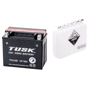 Tec-Core Battery with Acid TTX12BS Maintenance-Free for Honda TRX 250 RECON ES 2