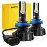 AUXITO H11 H8 H9 LED Headlights Bulbs 9000LM Kit Low Beam Fanless 6000K White B1