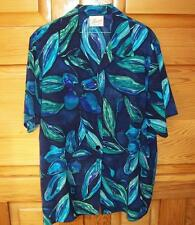 MIRRORS BLOUSE Size 16 Multi coloured blues & greens - polyester