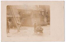 Social History, Builders & Foreman with Wheelbarrow Load of Stone RP PPC