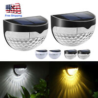 Solar Powered Gutter Fence 6LED Lights Outdoor Garden Waterproof Wall Lamp Decor