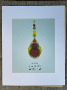 Nirvana Lyrics Art Print Framed OH WELL WHATEVER NEVERMIND Arneson TEEN SPIRIT