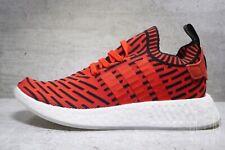 Mens Adidas NMD R2 Primeknit Sneaker Core Red White Black BB2910Human Race 8.5
