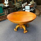 Stephen Huneck Tiger Maple Sunflower Round Dining Table