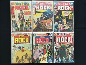 OUR ARMY AT WAR Lot of 6 DC Comic Books - #243 246 249 260 261 262 - Sgt Rock!