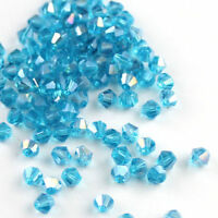 Wholesale 200/500pcs bicone crystal glass 5301 # 4mm/6mm loose spacer Beads