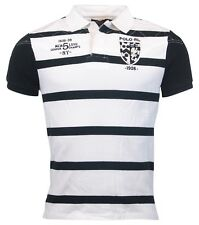 Polo Ralph Lauren Men's Custom Fit Striped Polo/Rugby, Appliqued Crest-XL