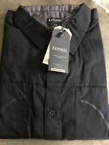 CHEMISE KAPORAL manche Longue 100% Coton Bleu T.XL Slim Homme Réf VIPH17M42