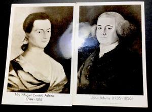 ODZ & ENDZ 2 REAL PHOTO JOHN & ABIGIAL ADAMS UN POSTED POSTCARDS 1592