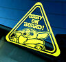 Baby on Board Yoda Decal - Star Wars Mandalorian Car Vinyl Laptop Sticker
