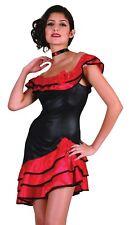 Spanish Lady Flamenco Rumba Style Ladies Fancy Dress Costume