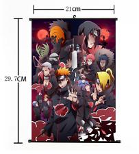 """Hot Japan Anime Naruto Akatsuki Cosplay Poster Wall Scroll 8""""×12"""" FL852"""