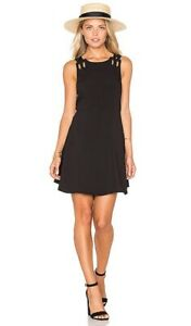 Free People Babylove Little Black Dress Size L Strappy Back Cut Out BNWT RRP$159