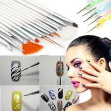 20 Pcs Nail Art Design Set Dotting Painting Drawing Polish Brush Pen Tools Ed