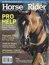 Horse And Rider Magazine Pro Help Early Training Trailers Spooking Nutrition