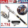 2.7M Lixada Telescopic Fishing Rod Spinning Reel Combo Full Kit Gear Pole D3N1