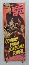 1944 Cowboy From Lonesome River Original Insert Movie Poster Charles Starrett