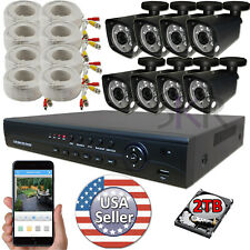 Sikker 8 Channel High Definition 1080P DVR Megapixel Security Camera System 2TB