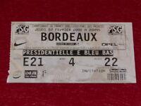 [COLLECTION SPORT FOOTBALL] TICKET PSG / BORDEAUX 7 FEVRIER 2002 Champ.France