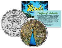 PEACOCK BIRD JFK Kennedy Half Dollar US Colorized Coin