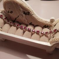Stunning Orissa Garnet tennis Bracelet in Platinum over Sterling silver