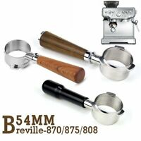 54mm Coffee Bottomless Portafilter For Breville 870/878/880 Filter Replacement