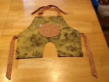 Handmade Overall Style Bib/Apron Baby Toddler - Toile