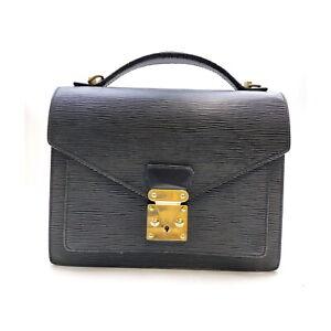 Louis Vuitton LV Hand Bag M52792 Monceau Black Epi 2401692