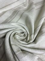 CREAM AND GREY BEST QUALITY CHENILLE FABRIC 3.4 METRES (2.2+1.2)