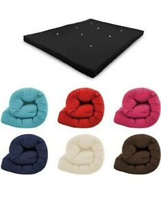 Futon Mattress Roll Out Spare Guest Sleep Over Bed Cotton Multi Layered Tufted