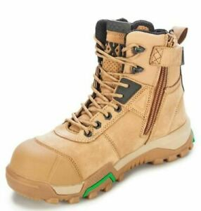 """FXD 6"""" WB-1 Leather Composite Toe Side Zip Safety Boot Wheat--12.5US Clearance"""