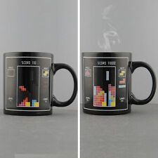 Tetris Parttern Changing Toy Bricks Heat Sensitive  Coffee Tea Milk Mug Cup Gift