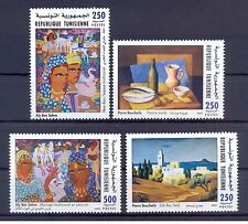 2001- Tunisia- Commemoration of Great Artist Painters Works in Tunisia- 4V.MNH**
