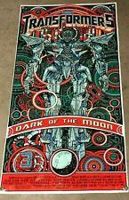 TRANSFORMERS thick canvas vinyl banner movie poster figure model dark side