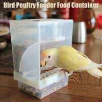Automatic Bird Feeders No Mess Pet Feeder Food Container Parrots New US
