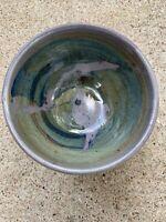 Vintage Ishmael Soto Studio Pottery Serving Bowl Texas Artist