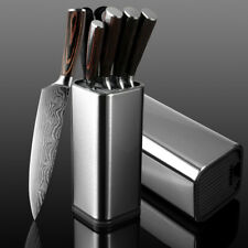 Knife Stand Block Holder Kitchen Knives Stainless Steel Cooking Accessories 14