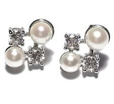 Genuine Natural White Rose Tone Japanese Akoya Round Double 5mm Pearl Earrings