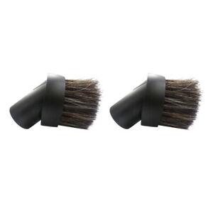 "(2) Black Horse Hair Dust Brush 1.25"" Attachment Vacuum Tool Kirby Sentria Oreck"