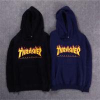Pull à capuche Thrasher pour hommes Hip-hop Skateboard Manteau de loisirs Sweats