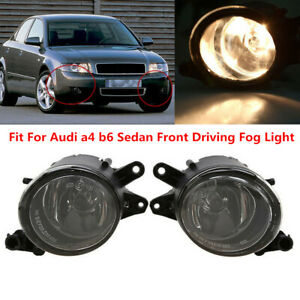 For Audi A4 Quattro B6 2001-2008 Clear Front Bumber Fog Light Driving Lamp Bulb