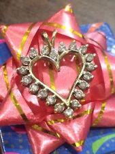10K Yellow Gold ~ 3/4CTW Diamond Heart Pendant