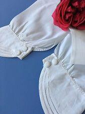 Paire de manches anciennes en coton Costume d'époque Collection 13367/CHA