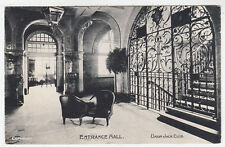 THE UNION JACK SOLDIER'S CLUB - Entrance Hall - Edwardian 1909 used postcard