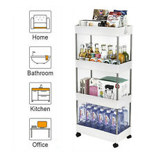 3/4 Tier Rolling Utility Cart Mobile Storage Organizer Holder for Kitchen Room