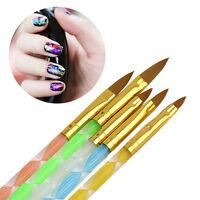 5 X Acryl UV Gel Nagel Pinsel Pinselset Nail Art Tips Gelpinsel No.4 6 8 10 12~