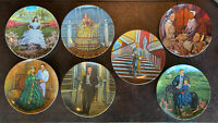 Vintage Knowles Gone With The Wind Collector's Plates Set Of 7 1984 1985 Lot